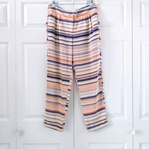 J. Crew Colorful Printed Pleat Front Pants | S